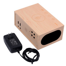 Home retro stand wooden bluetooth speaker with NFC ,touch screen wooden bluetooth speaker with led clock Wireless charge