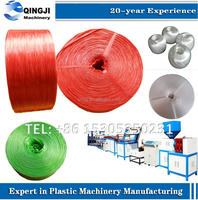 Automatic plastic film rope making machine with spool twister and ball winder