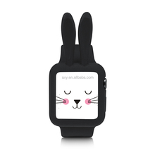 Silicon Protector Cute Rabbit Ears Watch Case for Apple Watch 42mm 38mm