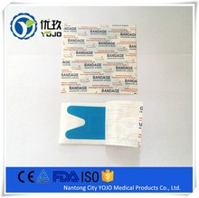 China Supplier Medical Sterile Elastic Fabric H Shape Blue Band-aid