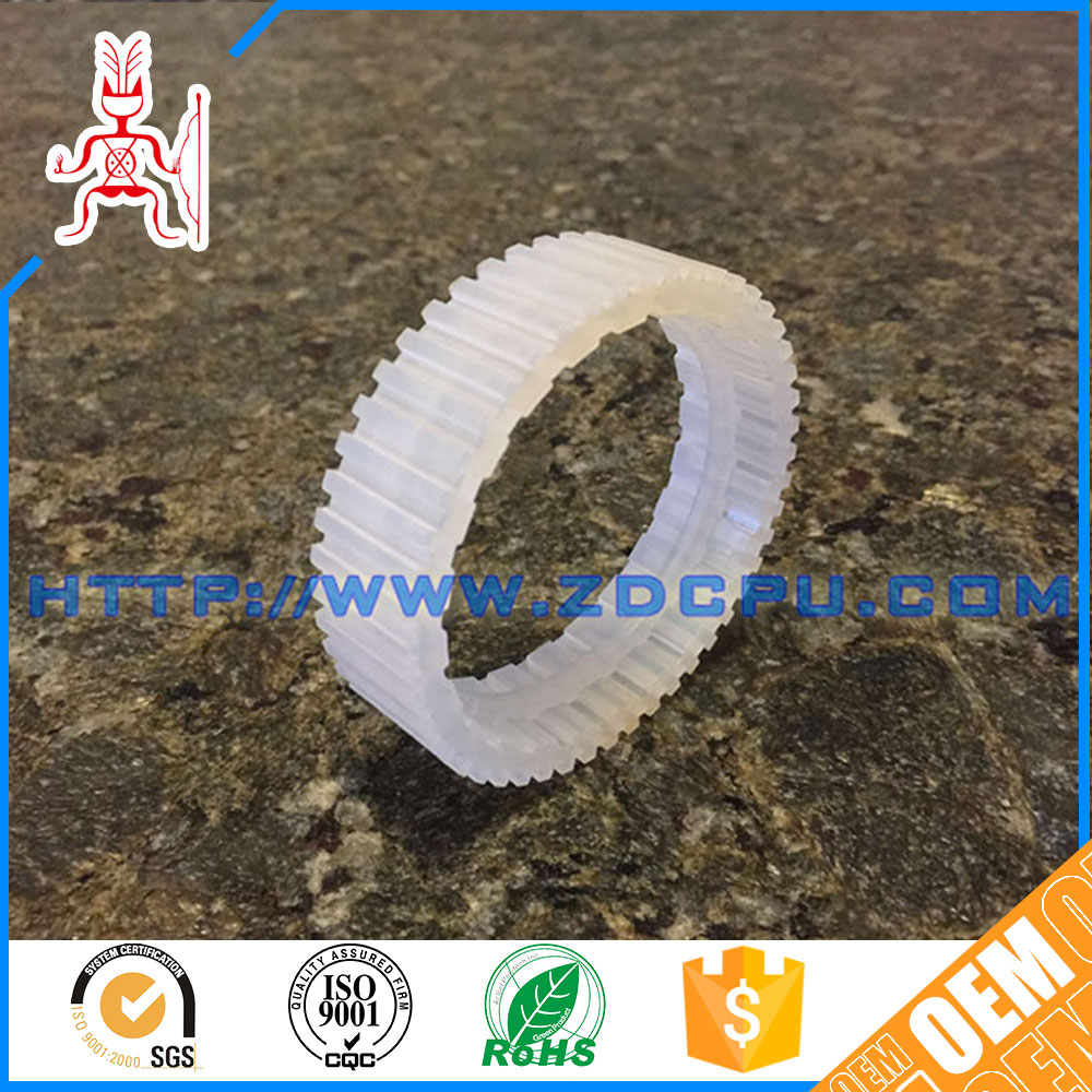 New products low noise nylon plastic double spur gear