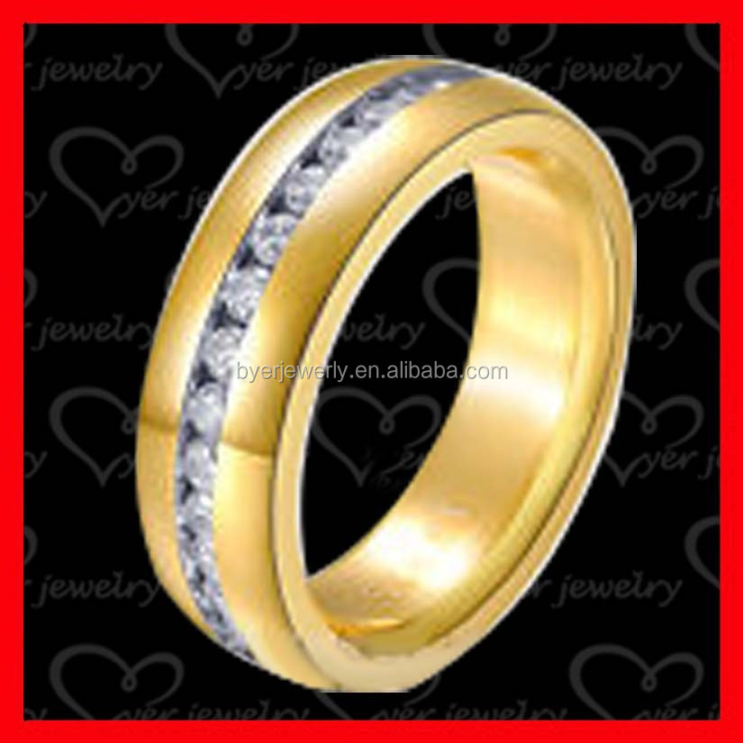 CNC cz setting stainless steel ring