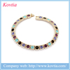 Rose gold plated womens jewlery colored crystal beaded bracelet personalized
