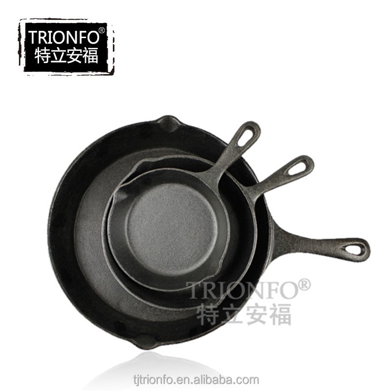 TRIONFO pre-seasoned cast iron skillet