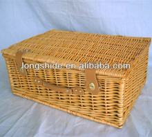 newest style 100% handmade weave wicker picnic basket