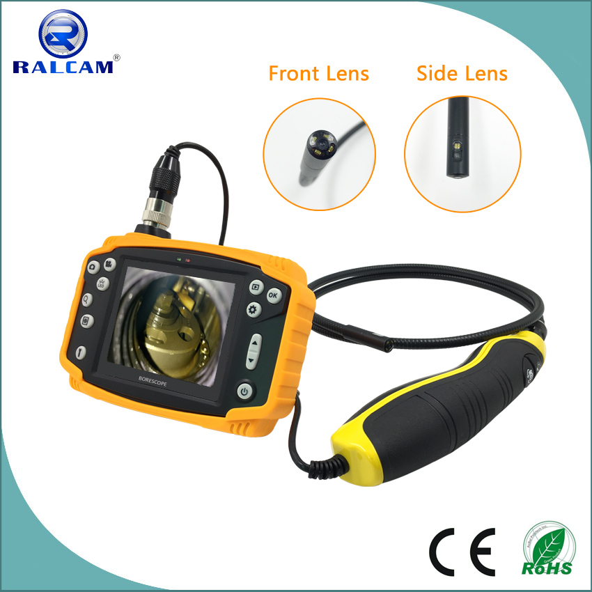 2600mA rechargeable battery monitor 90 degree angle of view industrial dual cameras video endoscope