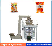 Hot selling Shanghai YB-420Z Potato Chips Banana Chips French Fries Vertical Pouch Bag Packing Machine with elevator machine
