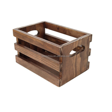 Wood storage crate antique vintage wood fruit crates