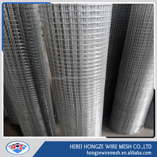 Hot dipped galvanized hardware cloth 1/2 3/4 1 inch welded wire mesh