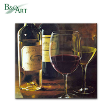 Realistic Style Still Life Wine Bottle Oil Painting Copy Painting of Famous Artist