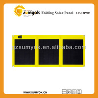OS-OP303 2014 new price 30W foldable solar pv panel poly cell 12v battery super fast charger