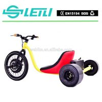 Strong Wind moped electric motorcycles , 2016 new fashion 3 wheel electric scooter drift trike ,world best drift trike