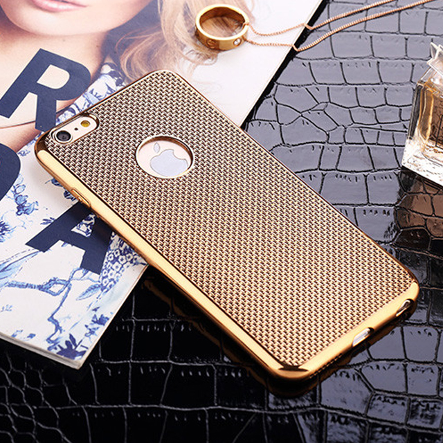 Guangzhou Mobile Phone TPU Cover for iPhone 5 5s 6 6s 6plus s6s plus Chrome Protective Case