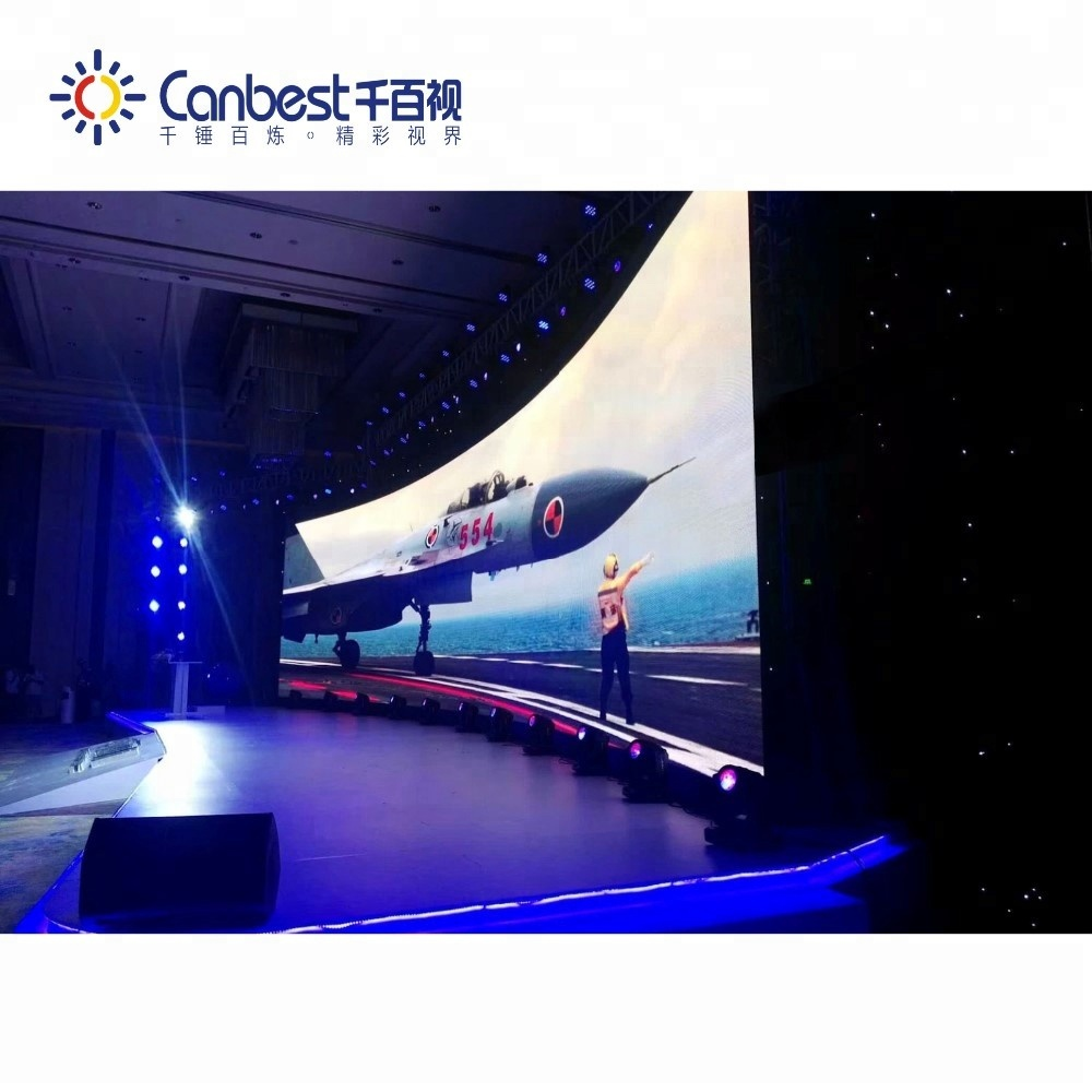 High brightness SMD2020 curved flexible indoor led display screen <strong>video</strong> for rental