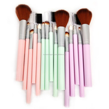 Cheap Beautiful 5 Pcs Plastic Handle Makeup Brushes Set