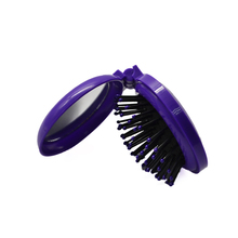 Travel Folding Hair Brush with Mirror Pocket Comb