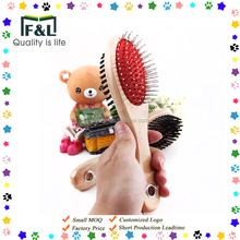 custom made double-sided dog and cat bath hair brush pet grooming comb