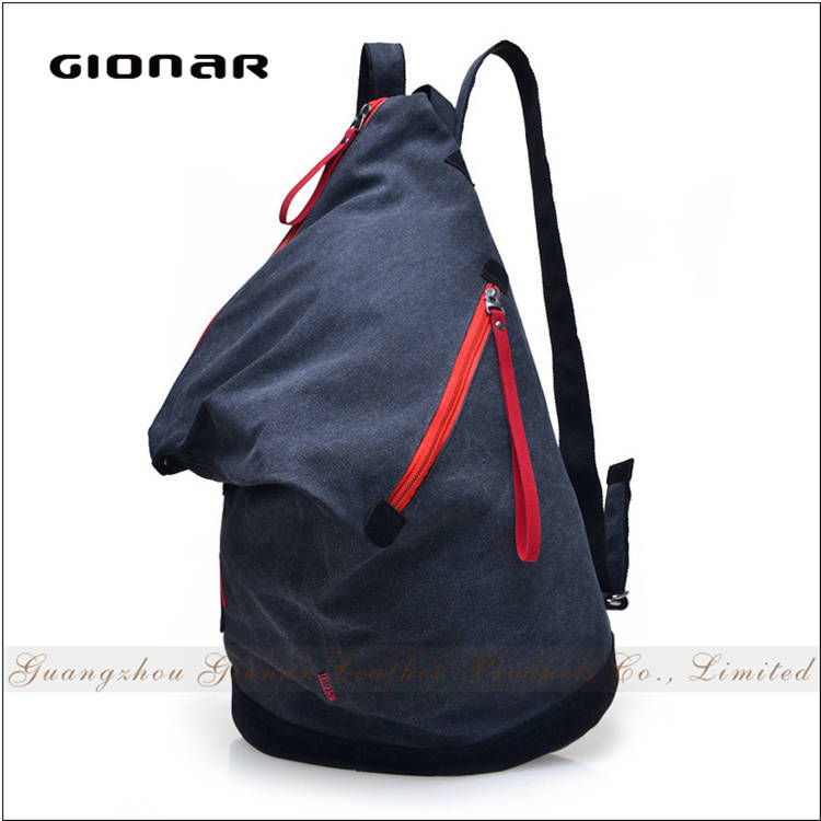 Casual Style Outdoor Branded Large Barrel Soft Bags <strong>School</strong> Waxed Canvas Backpack