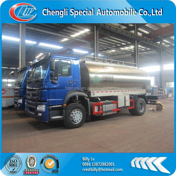 4x2 howo stainless tank truck for beer /milk /drink water/alcohol transportation