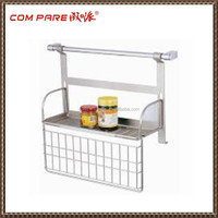 hot saling wall mounted metal wire spice rack