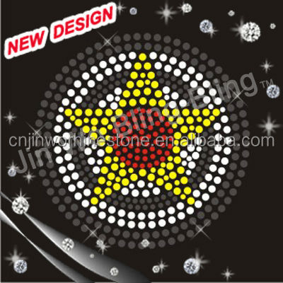Iron on star transfers neon rhinestud motif pattern for clothes