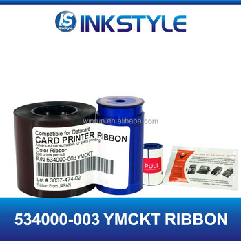 Comaptible ribbon for Datacard 534000-003 YMCKT ribbon SP35 SP55 SP75 Series card printer