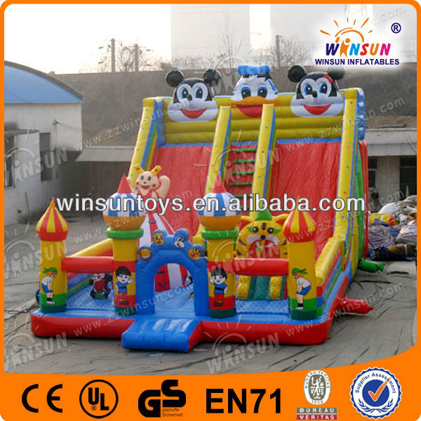 Hot Sale New Designed Colorful Offer Inflatable Slides