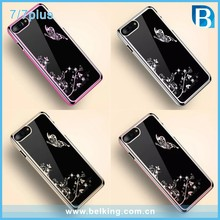 For iPhone7 7Plus Diamond Electroplated Case, Crystal PC Plastic Case For iPhone 7
