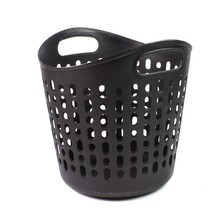Wholesale cheap raindrop shape soft plastic storage basket with handle