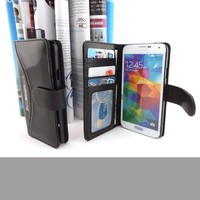 flip leather case cover for samsung galaxy grand 2 with credit card slots from China supplier