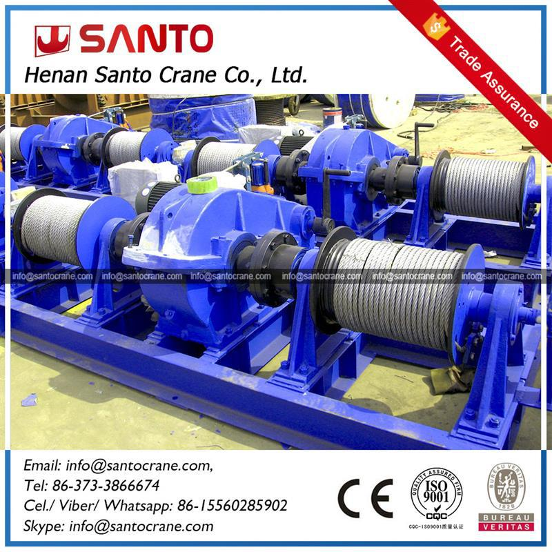 Safety Pulling Double Drum Electric Cable Winch