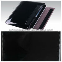 mirrorface no fold crease PU leather for ipad cover T9119