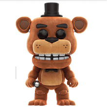 Custom make flocking five nights vinyl toys, making games vinyl figures freddy flocked