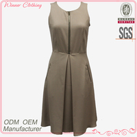 high quality zip pocket korean fashion dresses 2013 for office lady