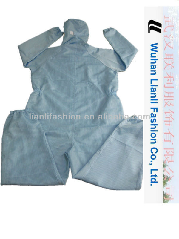100%polyester anti-static hooded coverall