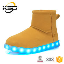 2016 shoes with led lights adult with USB Rechargeable keep warm led shoes