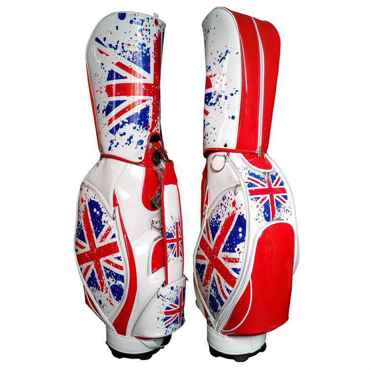 top quality pu customization golf bag/ fancy printed golf bag/ custom made golf bag