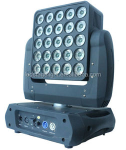 GBR ROBE Square Matrix Stage Light Sharp Pixel Beam Infinite Rotating 25pcs 15W RGBW 4-in-1 LED Moving Head