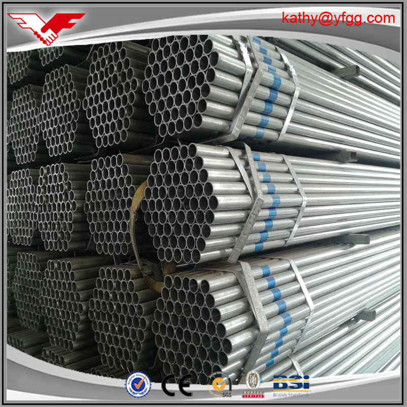 ASTM A53 GR.B galvanized semaless steel pipe and tube price list