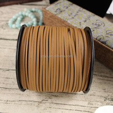ST1035 Light Brown Flat Leather Cords, Jewelry Beading Thread Lace