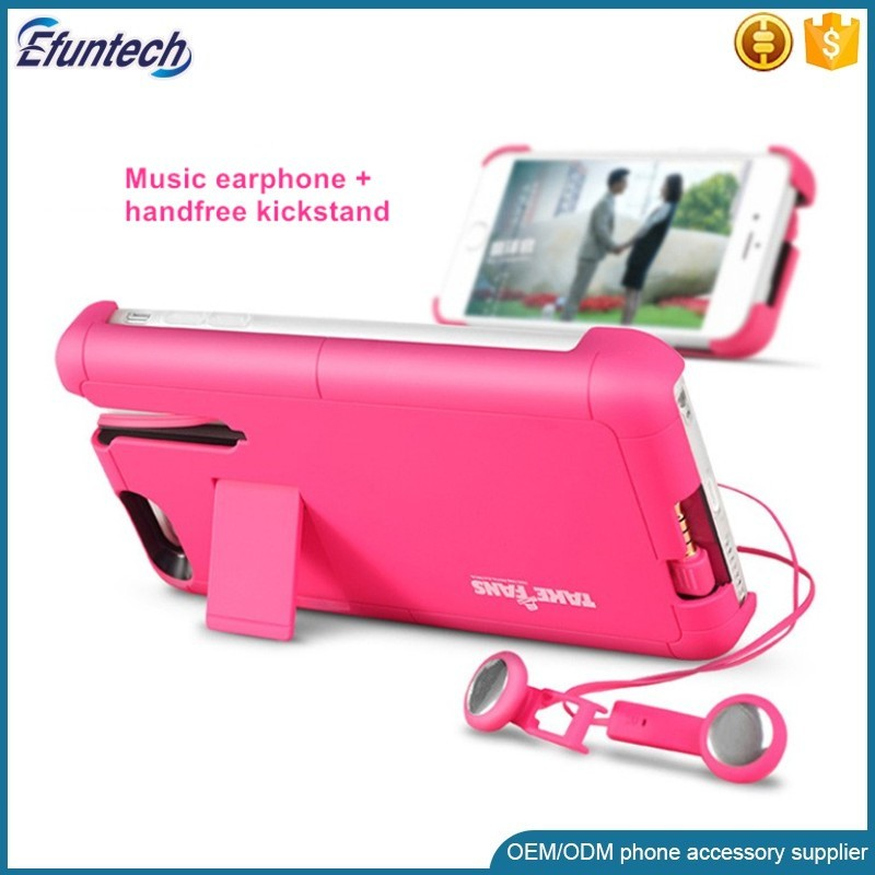 New design hot sell headphone case for iphone 7 case pull out style earphone case for iphone 6