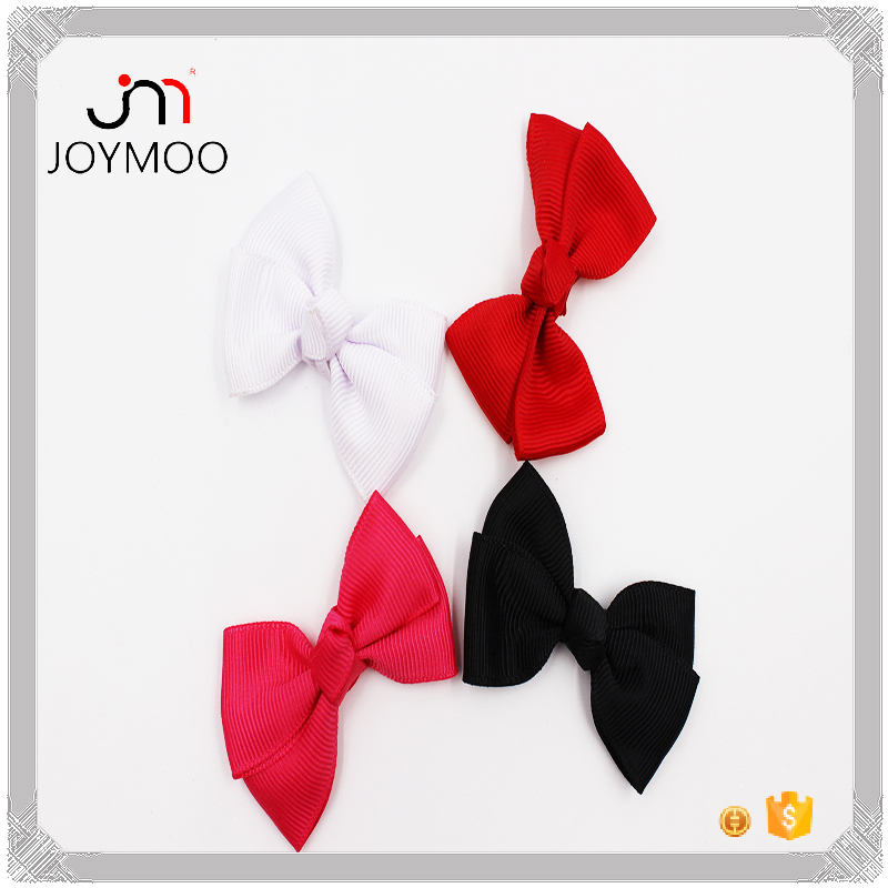 Pure Color Customized Color Size Grosgrain Bows for Girls Hairbands 6cm Cute Baby Hair Bows Grosgrain Bows Used for Decoration