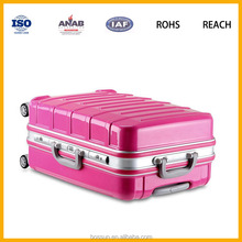 New dasign Women and Men Bright Color Trolley Handle PC Travel luggage