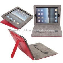 Portable PU Leather Skin Folding Case with Built-in Stand Style for iPad 2