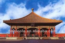traditional ceramic glazed golden temple model composite roof tiles