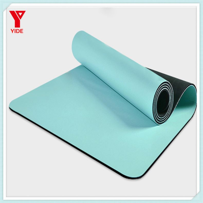 Omega natural rubber yoga mat pu leather