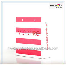 Pink and White Affordable Eco Friendly Luxury Brand Cosmetics Ivory Card paper Retail Bag