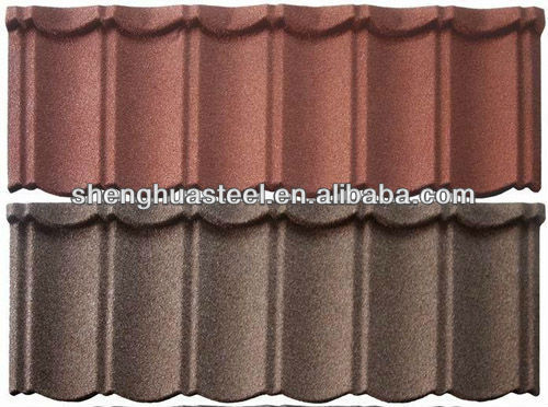 Africa popular light weight building materials colorful stone chip coated metal corrugated roof/roofing tiles/sheets/plates