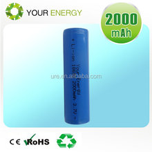 Your Energy 18650 3.7V 2000mAh spotlight cylinder recharge battery