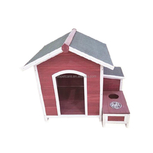 Wood Pet Dog Puppy Indoor & Outdoor Red dog cabin house